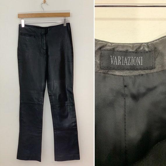 Vintage 80s Black Leather Pants