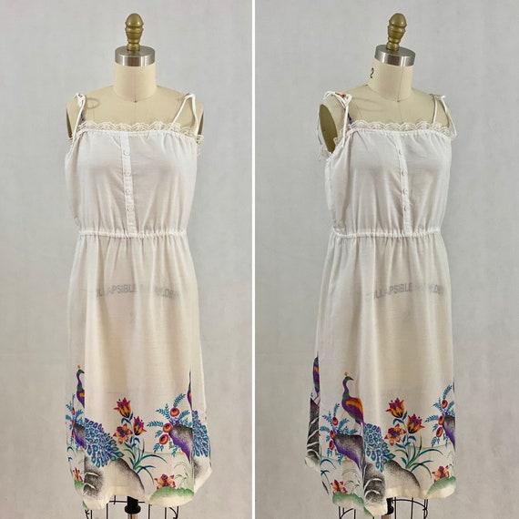 Vintage 70s Floral Sundress Prairie Sundress Boho