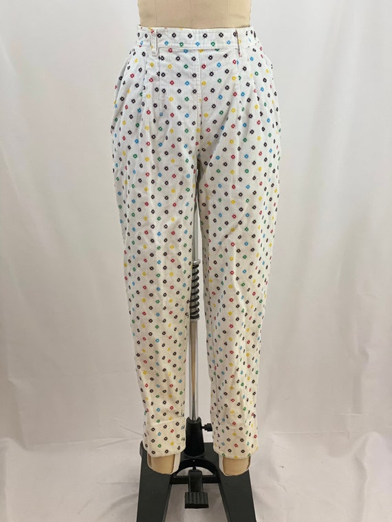 Vintage 80s Stirrup Pants Corduroy High Waisted Pa