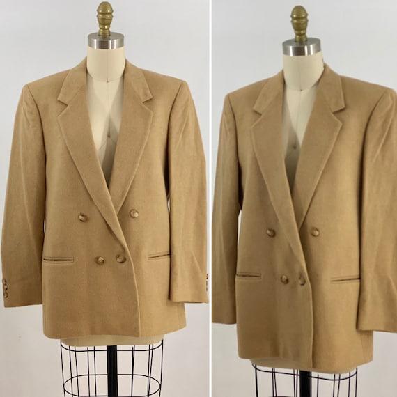 Vintage 80s Camel Hair Blazer 80s Blazer Oversized