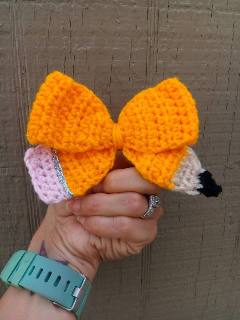 Pencil Bow / Back to school bow/ pencil themed bow image 0