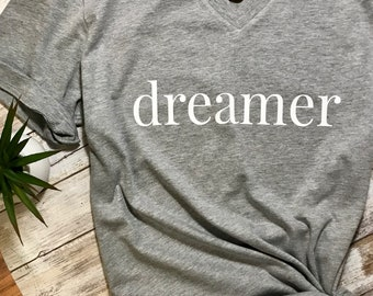 b8a51ced t-shirt, Dreamer Shirt, Vneck Shirt, Birthday Gift - Lucky Shirt - Good  Vibes - Positive Vibes - Tumblr Shirt - Xmas Gift - Christmas Gift