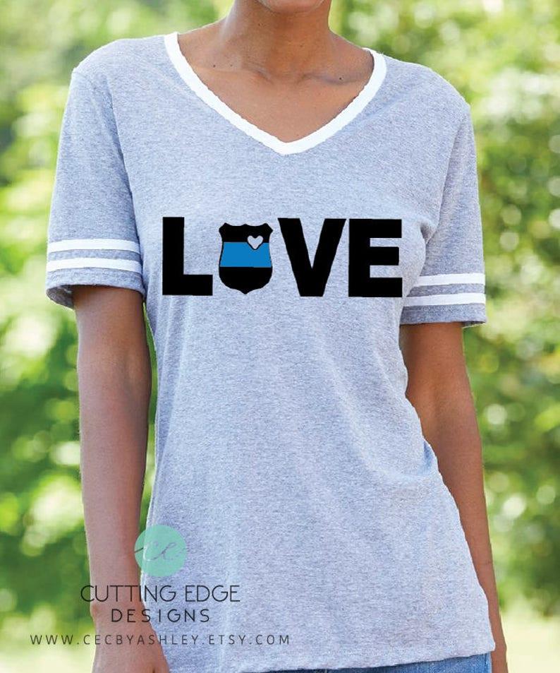 661bf083a Police love shirt Police Wife Police Varsity Shirt | Etsy