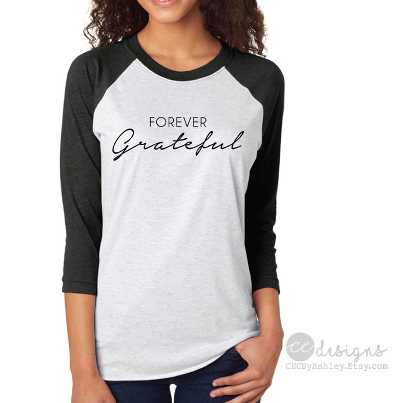 Women's Clothing 2017 Autumn Fashion Women Grateful Thankful Blessed Baseball Tees O-neck Three Quarter Sleeve Female Gray Top Quality First