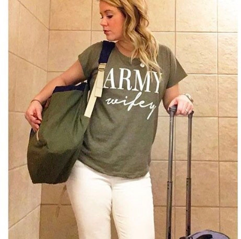 141d23e8 Army Wife shirt slouchy T-Shirt. Army Wife. T-Shirt. Flowy | Etsy