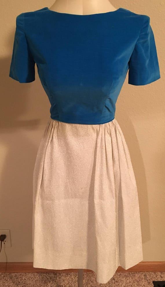 Vintage 1960s Era Velveteen & Lame' Dress - Size X