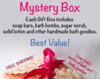 Limited Edition Mystery Gift Box - Filled with handmade bath goodies - FREE SHIPPING