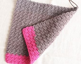Rinse cloth grey-pink- flushing flaps/washcloths made of wool, reusable, washable, sustainability