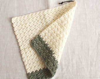 Rinse cloth white-eucalyptus - washing cloths/washcloths made of wool, reusable, washable, sustainability