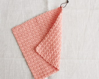 Rinse cloth peach - flushing flaps/washcloths made of wool, reusable, washable, sustainability