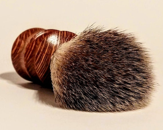 Shaving Brush - Hand-Turned Lacewood and Crafted with 100% Animal-Friendly Bristles