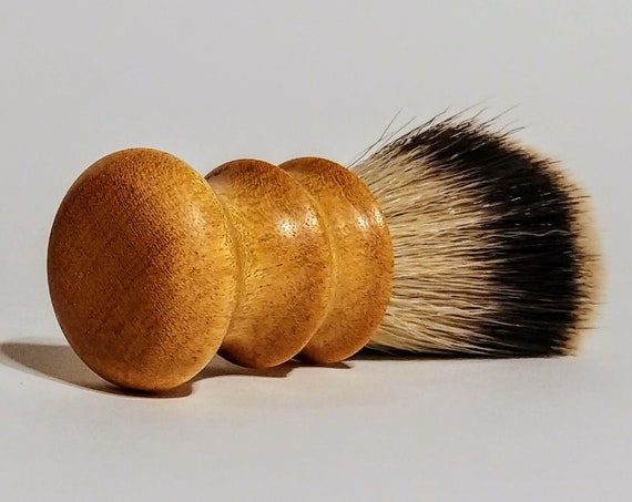 Shaving Brush - Hand-Turned Yellowheart Handle & Crafted with 100% Pure Badger Bristles