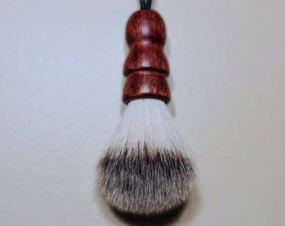 Vegan Shaving Brush - Hand Turned Bloodwood and Crafted with 100% Animal-Friendly Bristles