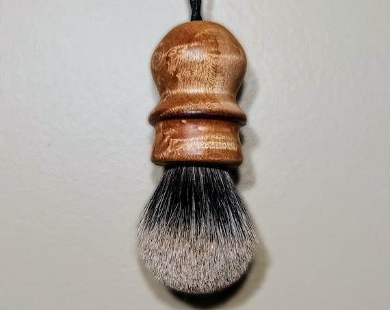 Badger Shaving Brush - Hand-Turned Birdseye Maple
