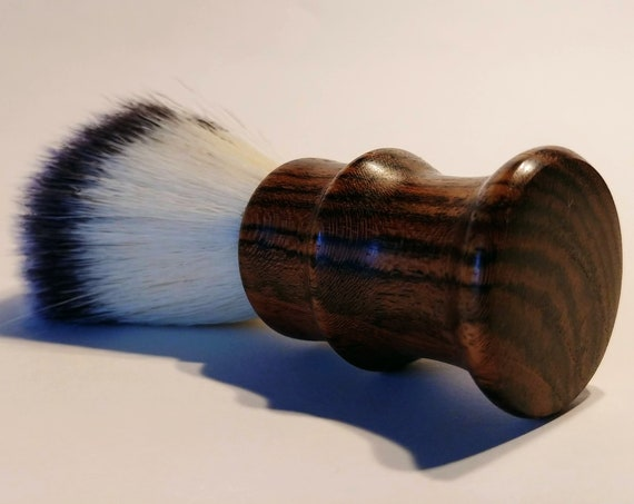 Vegan Shaving Brush - Hand Turned Bocote and Crafted with 100% Animal-Friendly Bristles