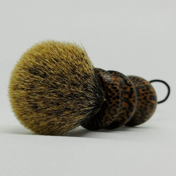 Shaving Brush - Hand-Turned Black Palm Handle & Crafted with 100% Pure Badger Bristles