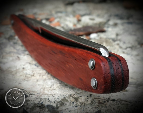 Striking Padauk and Wenge, Shave-Ready, Restored, Vintage Straight Razor