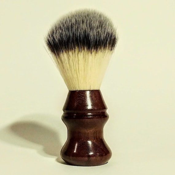 Shaving Brush - Hand-Turned Mexican Royal Ebony and Crafted with 100% Animal-Friendly Bristles