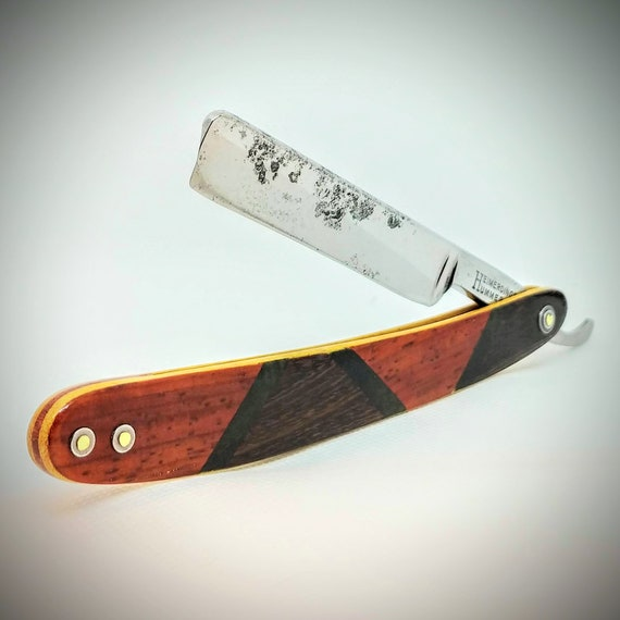 Stylish Multi-Wood Razor with Restored, Shave-Ready Blade