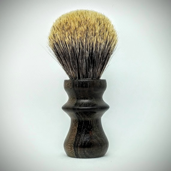 Shaving Brush - Hand-Turned Ziricote Handle & Crafted with 100% Pure Badger Bristles