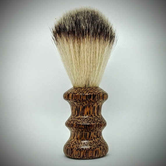 Vegan Shaving Brush - Hand Turned Red Palm and Crafted with 100% Animal-Friendly Bristles