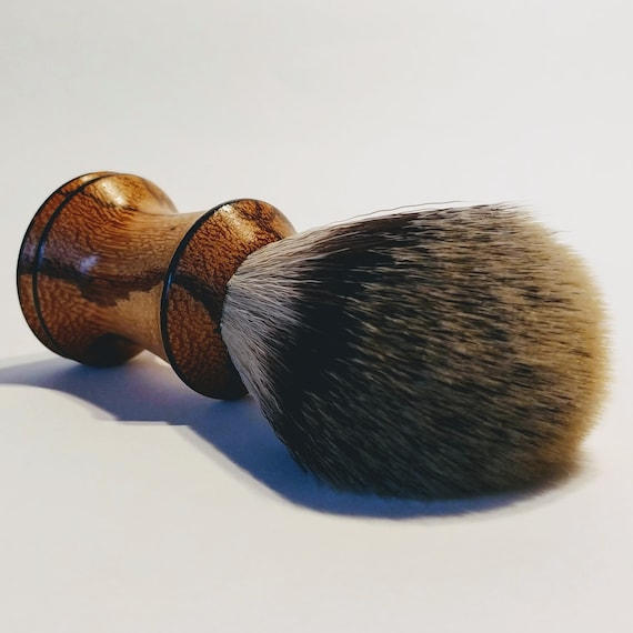 Shaving Brush - Hand-Turned Marblewood Handle & Crafted with 100% Pure Badger Bristles