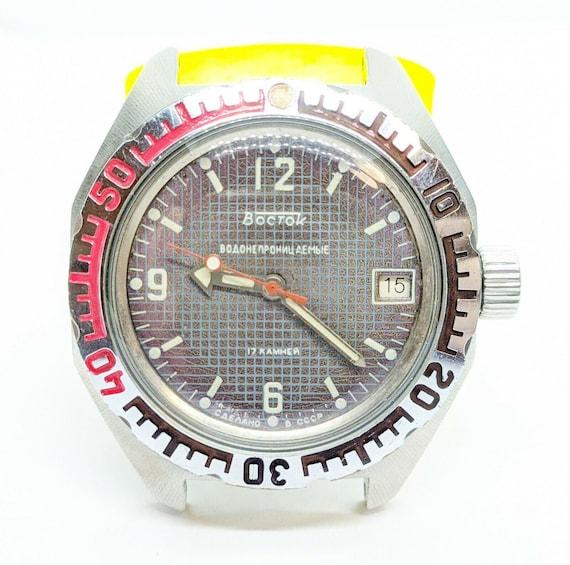 Vostok Amphibian, USSR Watch, Caliber 2414, Rare S