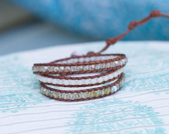 White & Gold Wrap Bracelet