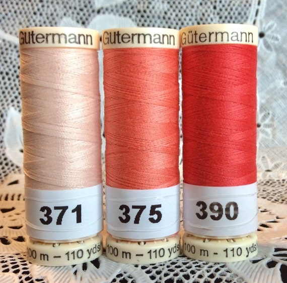 3 NEW different Blue colors GUTERMANN 100/% polyester thread 110 yard spools