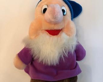 Walt Disney World Seven Dwarfs Sneezy Vintage Plush