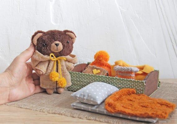 Teddy Bear 6 Inches Stuffed Animal Set Clothing Handmade ...