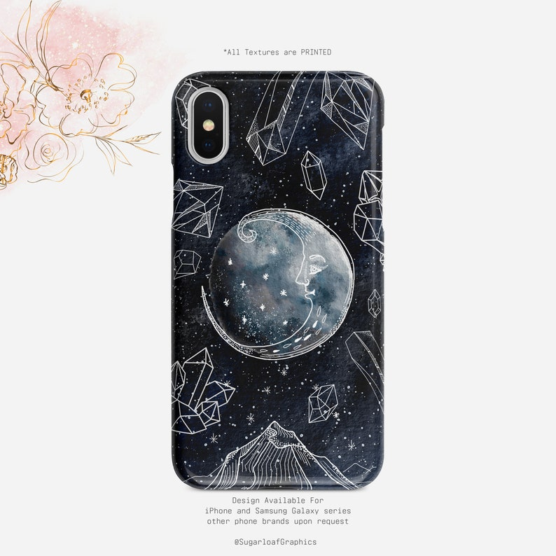 Moon Crystal Energy Zen Peace Starry Sky Mystic Universe Iphone Case Samsung Case Iphone X Case Iphone Xs Case Xs Max Case Google Pixel Case
