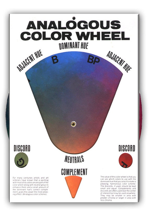 The Original Analogous Color Wheel Hal Reed Art Supplies Etsy