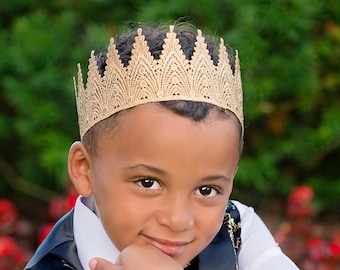Birthday Crown for Boys & Men - Aspen - Birthday Crown - Full Size - Photography Prop - Unisex - Gender Neutral - Kings - Prince
