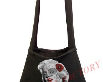 New Classic Marilyn Monroe Rose Black Shoulder Bag Book Tote Dope Cali  Bookbag 8cac9e4c89
