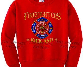 e8d087d7fa Men's FireFighter Kick Ash Red Sweatshirt All size S-2XL unisex