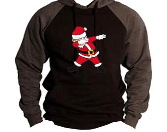 da46833530f6c Men s Dabbing Santa Claus Black Charcoal Hoodie All size S-3XL