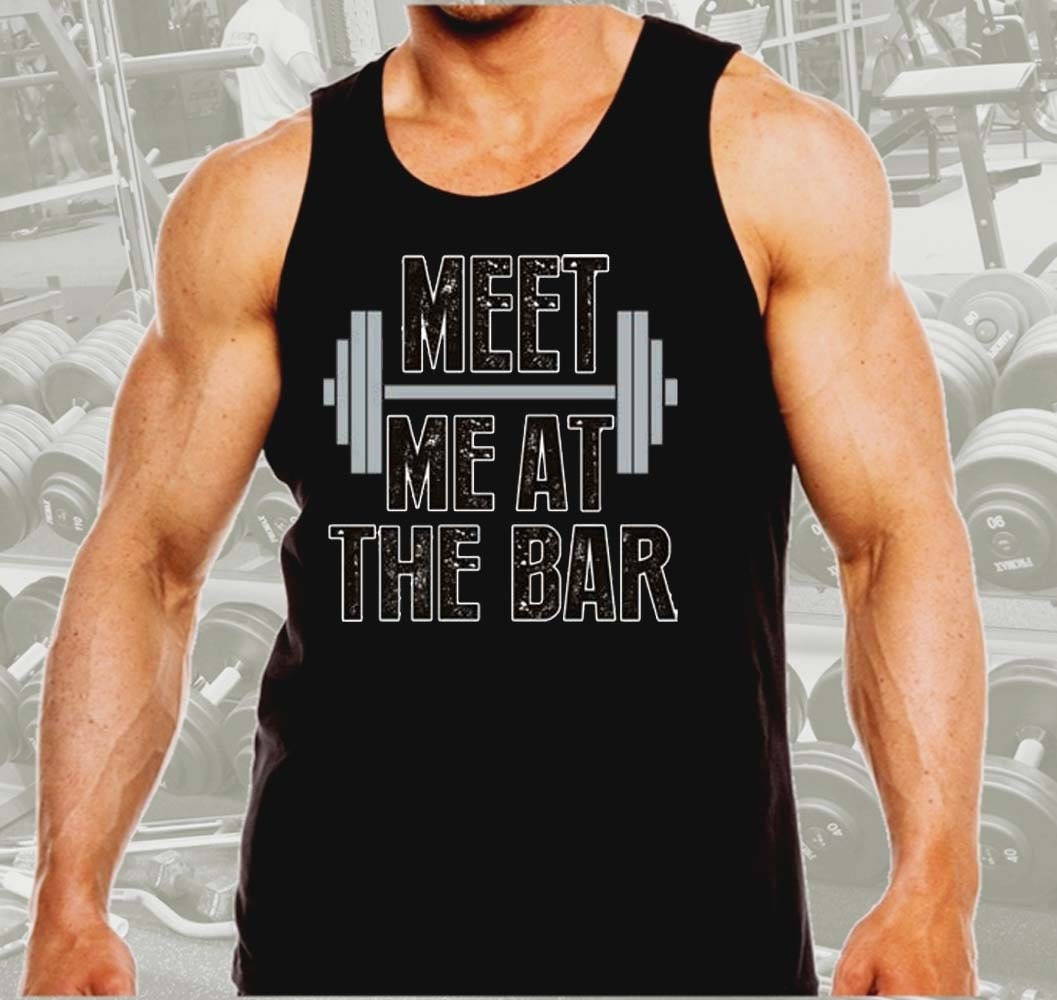 ad965c2b793c9a Meet Me At The Bar Men s Workout Tank Top Black All size