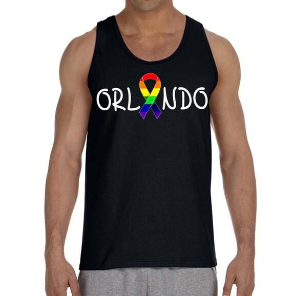 01bd26a4bf5080 Orlando Rainbow Gay Pride Equal Rights Men s Tank Top all