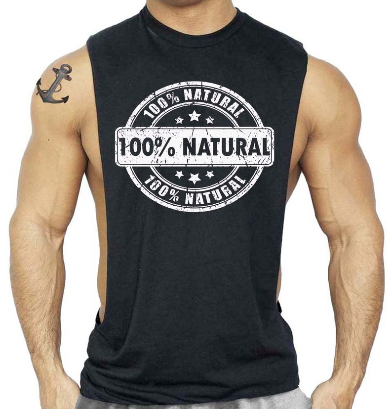 f7a9a434a 100% Natural T-Shirt Bodybuilding Tank Top All size S-3XL | Etsy