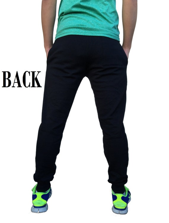Mens Marilyn Monroe Red Bandana KT T126 Black Fleece Jogger Sweatpant Gym Shorts X-Large Black