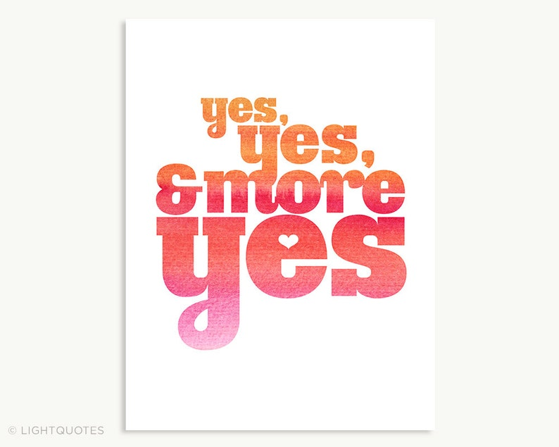 Yes Yes & More Yes in Ocean Colors and Red Colors 6x8 image 0