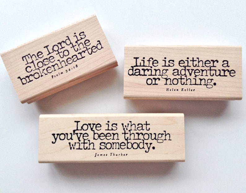 Life Loss and Love Rubber Stamps 3 high quality rubber image 0
