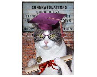 Cat Photo Card: Teacher's Pet