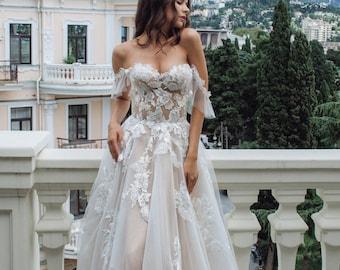 Corset Wedding Dress Etsy,Sparkly Glitter Ball Gown Wedding Dress