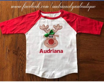 Personalized reindeer shirt