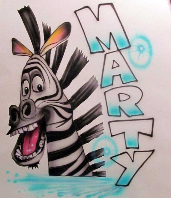 NECKLACE ~ PENDANT ONLY MADAGASCAR MARTY ZEBRA DOG TAG CARTOON MOVIE PENDANT