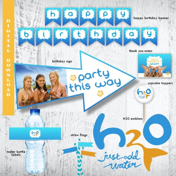 H20 Party Pack Just Add Water PhotoH2O BirthdayMermaid