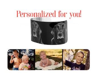 Mother's Day Personalized Custom Photo Cuff Bracelet