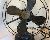 Antique GE Brass Variable Speed Fan Working